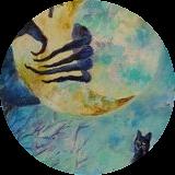 Cat's hour, Paintings, Fine Art, Animals,Decorative,Fantasy,Landscape, Acrylic,Canvas, By Marta Kuźniar