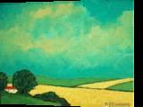 Catalonia Farm, Paintings, Fine Art,Impressionism,Photorealism,Realism, Landscape, Acrylic,Canvas, By David John Edwards