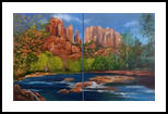 Cathedral Rock, Sedona, Paintings, Realism, Landscape, Oil, By Colleen Lambert