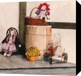 Cats and Dolls, Paintings, Realism, Still Life, Painting, By William Clark