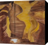 Cave playing with the sunlight, Paintings, Fine Art, Landscape, Oil,Painting, By Claudia Luethi alias Abdelghafar
