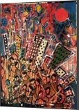 celeberation, Paintings, Expressionism, Conceptual, Acrylic, By Shazia Jaffery