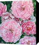 CELEBRATIONS - PEONIES GALORE, Paintings, Fine Art,Modernism,Photorealism,Realism, Botanical,Floral,Nature,Still Life, Acrylic, By HSIN LIN