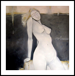 Charm of the nude-02, Paintings, Abstract, Erotic, Canvas,Oil, By Gnana Ponnusamy