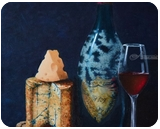 Cheese and wine. Nikolay Velikiy 2017, Paintings, Realism, Still Life, Canvas,Oil, By Nikolay Velikiy
