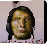 Chief Red Cloud, Paintings, Pop Art, People, Acrylic, By Curtis Dickman