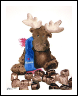 Chocolate Moose, Paintings, Realism, Still Life, Painting, By William Clark