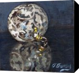 Christmas Deco 1, Paintings, Fine Art,Realism, Still Life, Canvas,Oil,Painting, By Tom Furey