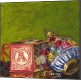 Christmas Deco 3, Paintings, Fine Art,Realism, Still Life, Canvas,Oil,Painting, By Tom Furey