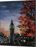Christmas in London, Paintings, Fine Art,Impressionism,Realism, Architecture,Figurative,Landscape, Canvas,Oil, By Kateryna Bortsova