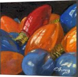 CHRISTMAS LIGHTS 2, Paintings, Fine Art,Realism, Still Life, Mixed,Oil,Painting, By Tom Furey