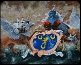 Clifton Coat Of Arms. Nikolay Velikiy 2017, Paintings, Realism, Still Life, Canvas,Oil, By Nikolay Velikiy