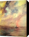 Cloud and sea, Paintings, Fine Art, Landscape,Nature, Watercolor, By asm g ambia