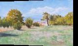 Clover Field, Paintings, Fine Art,Impressionism,Realism, Landscape,Nature, Oil,Painting,Wood, By Dejan Trajkovic
