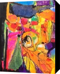 Collage Painting, Collage,Paintings, Abstract,Expressionism, Fantasy, Acrylic,Canvas,Oil, By Joseph Culotta