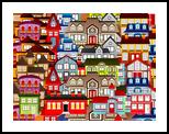 Color city 1A, Digital Art / Computer Art,Poster, Expressionism,Fine Art, Architecture, Canvas,Digital, By Ata Alishahi