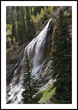 Colorado Waterfall, Land Art,Photography, Fine Art,Photorealism, Environmental art,Land Art,Landscape,Nature, Photography: Metal Print,Photography: Photographic Print,Photography: Premium Print,Photography: Stretched Canvas Print, By Nathan Little
