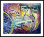 Colorful music, Paintings, Modernism, Figurative,Music, Acrylic,Oil, By David Rafael