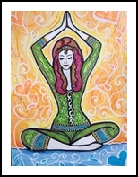 Colorful yoga, Drawings / Sketch, Primitive, Anatomy, Mixed, By Paula Valeria Fridman