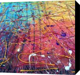 Confusion, Paintings, Abstract, Conceptual,Decorative, Acrylic,Canvas, By Kenneth E Parker