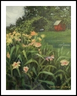 Consider the Lilies, Paintings, Fine Art,Impressionism,Realism, Floral,Landscape,Nature, Acrylic, By Cindy Van Kley