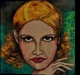 CONSTANCE, Paintings, Fine Art,Realism, Fantasy,People,Portrait, Acrylic,Ink, By Susan Adele Kemp Maldonado