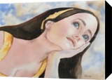 Contemplating In Love, Paintings, Impressionism, Portrait, Watercolor, By Christina Giza