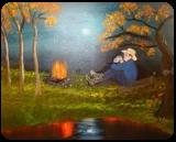Contemplation, Land Art,Paintings, Fine Art,Realism, Inspirational,Landscape,Nature, Canvas,Oil,Painting, By Lana karin Fultz