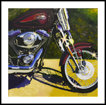 Convertible Harley, Paintings, Fine Art, Still Life, Canvas,Oil, By Keith Carnell Lambert