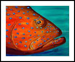 Coral Grouper, Paintings, Impressionism, Animals, Canvas, By Glenn Lathi