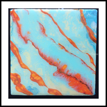 Coral Stripes, Paintings, Abstract, Seascape, Mixed, By Crystal Dombrosky
