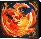 Cosmic Glow, Paintings, Abstract,Expressionism, Celestial / Space,Fantasy,Spiritual, Canvas,Oil,Painting, By Susan Kerr