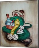 Country Cobra, Paintings, Pop Art,Street Art, Animals,Cartoon,Fantasy, Acrylic,Ink, By Robert Douglas Given