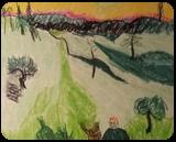 Couple Walking, Pastel, Impressionism, Landscape, Pastel, By MD Meiser