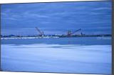 Cranes and Poles, Photography, Photorealism, Landscape, Ice,Photography: Photographic Print, By Rich Mengel