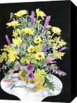 Crayola Flowers, Paintings, Impressionism, Floral, Watercolor, By Christina Giza