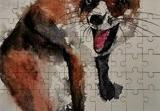 Crazy Fox, Paintings, Fine Art, Animals, Watercolor, By james Allen lagasse