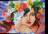 CreFeDraSucFru . The 5 elements., Paintings, Expressionism,Futurism,Impressionism,Romanticism, Avant-Garde,Botanical,Conceptual,Decorative,Fantasy,Floral,Portrait, Canvas,Oil,Painting, By Irina Bardita