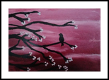 Crimson Blossom, Paintings, Fine Art,Minimalism,Symbolism, Animals,Environmental art,Still Life,Wildlife, Canvas,Oil,Painting, By Robert Douglas Given