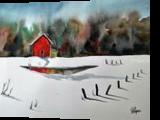 Crooked House, Paintings, Fine Art, Landscape, Watercolor, By james Allen lagasse