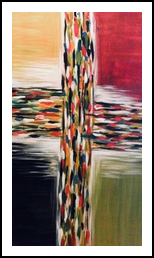 Crossroads, Paintings, Abstract, Decorative, Acrylic, By Judith Cahill
