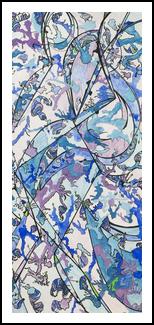 Crystalline Xylene Kaleidoscope, Paintings, Abstract, Avant-Garde, Gouache, By Eva Marie Hunter
