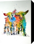 Cute baby goats, Paintings, Impressionism,Modernism, Animals, Watercolor, By Kovacs Anna Brigitta