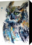 Cute owl, Paintings, Impressionism, Animals, Watercolor, By Kovacs Anna Brigitta