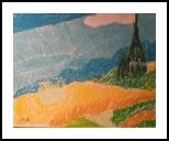 Cypresses, Pastel, Impressionism, Landscape, Pastel, By MD Meiser