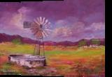 Dam Widmill, Paintings, Impressionism, Landscape, Canvas, By Louis Pretorius