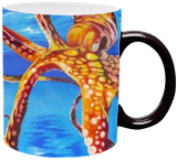 Dancing Octopus, Paintings, Fine Art,Photorealism,Realism, Animals, Canvas,Oil, By Patrizia Grilli