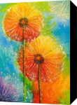 Dandelions, Paintings, Impressionism, Botanical,Floral,Nature, Canvas,Oil,Painting, By Olha   Vyacheslavovna Darchuk