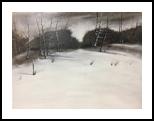 Dark November, Paintings, Impressionism, Landscape, Oil, By Stephen Keller