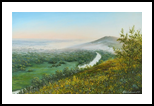 Dawn on the Siverskyi Donets River, Paintings, Realism,Romanticism, Landscape, Canvas,Oil, By Nataliya KyrkachAntonenko